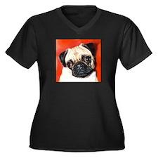 Pug Gifts 1 Women's Plus Size V-Neck Dark T-Shirt