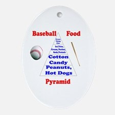 Baseball Food Pyramid Kids (oval) Oval Ornament