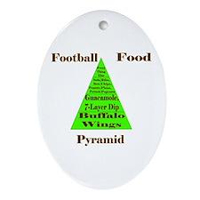Football Food Pyramid (oval) Oval Ornament