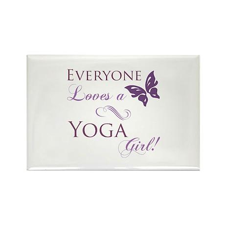 Yoga Girl Rectangle Magnet (100 pack)