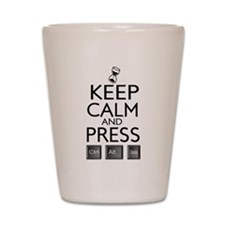 Keep Calm and press control Alt funny Shot Glass