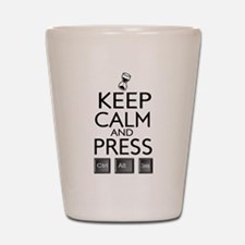 Keep Calm and press control Alt funny Shot Glass