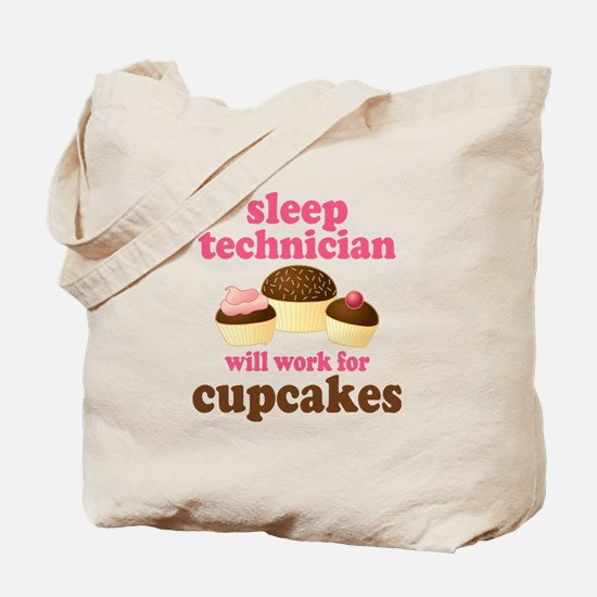 Sleep Technician Cupcake Tote Bag