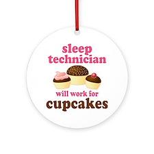 Sleep Technician Cupcake Ornament (Round)