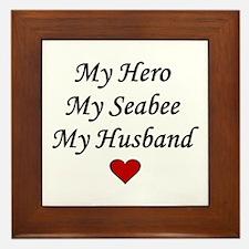 My Hero My Seabee My Husband Framed Tile