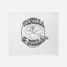 Vanilla Gorilla Ink Big Logo Throw Blanket