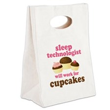 Sleep Technologist Cupcake Canvas Lunch Tote
