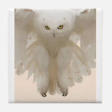Ghost Owl Tile Coaster