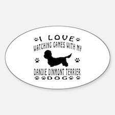 Dandie Dinmont terrier design Sticker (Oval)