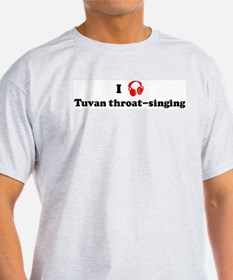 Tuvan throat-singing music Ash Grey T-Shirt
