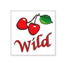 "Wild Cherries Square Sticker 3"" x 3"""