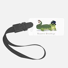 Christmas Alligator Luggage Tag