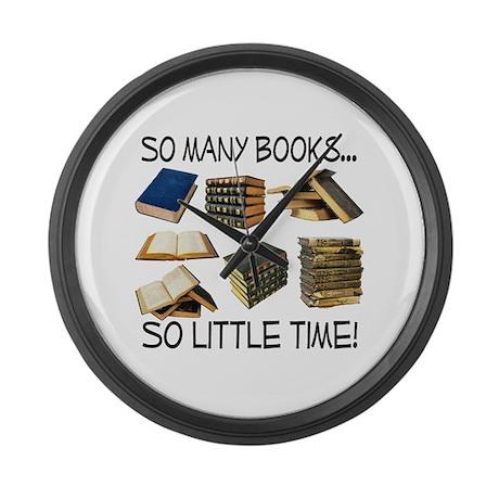 So Many Books... Large Wall Clock