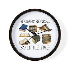 So Many Books... Wall Clock