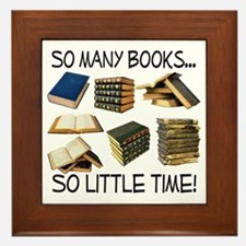 So Many Books... Framed Tile