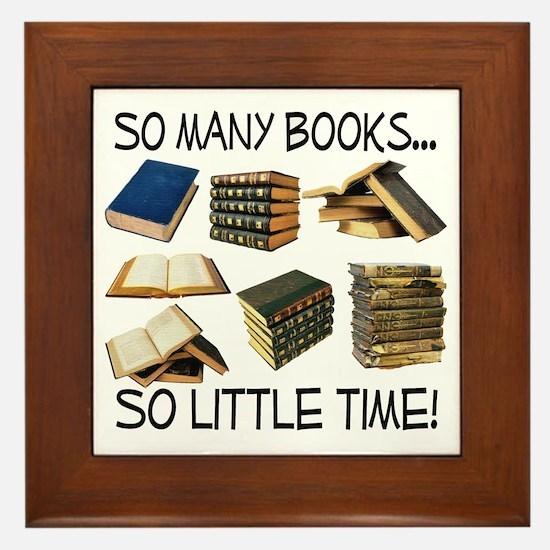 So Many Books... Framed Tile