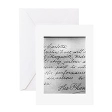 phantom letter to carlotta Greeting Cards