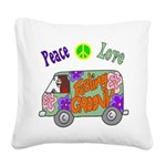 Groovy Van Square Canvas Pillow