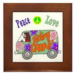 Groovy Van Framed Tile