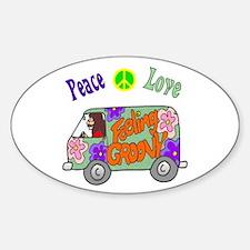 Groovy Van Sticker (Oval)