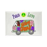 Groovy Van Rectangle Magnet (100 pack)