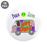 "Groovy Van 3.5"" Button (10 pack)"