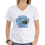 Burger and Fries BFFs Women's V-Neck T-Shirt