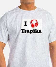 Tsapika music Ash Grey T-Shirt