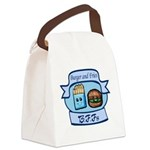 Burger and Fries BFFs Canvas Lunch Bag