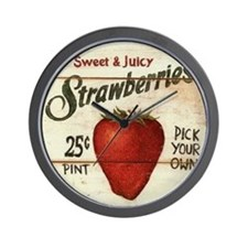 Funny Strawberry Wall Clock