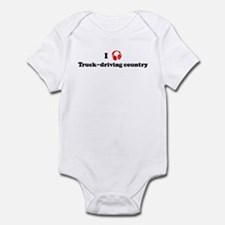 Truck-driving country music Infant Bodysuit