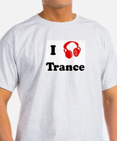 Trance music Ash Grey T-Shirt