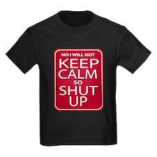 funny anti keep calm parody humor T