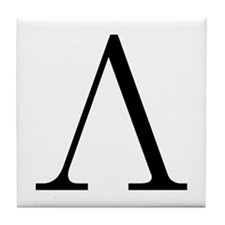 Greek Letter Lambda Tile Coaster