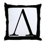 Greek Letter Lambda Throw Pillow