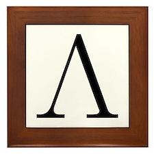 Greek Letter Lambda Framed Tile