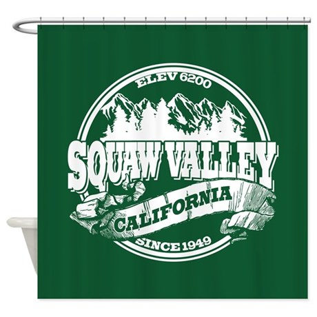 Squaw Valley Old Circle Shower Curtain