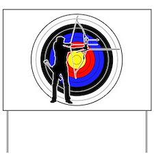 Archery & target 01 Yard Sign