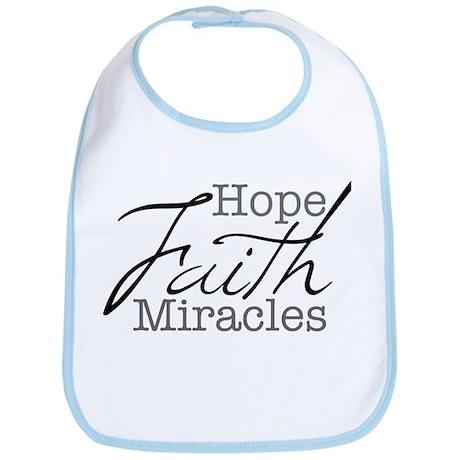 Mood Booster Hope, Faith, Miracles Bib