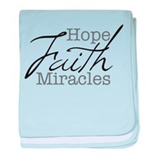 Mood Booster Hope, Faith, Miracles baby blanket