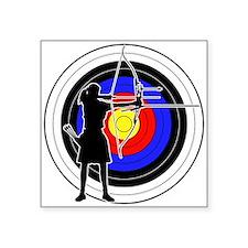 "Archery & target 02 Square Sticker 3"" x 3"""