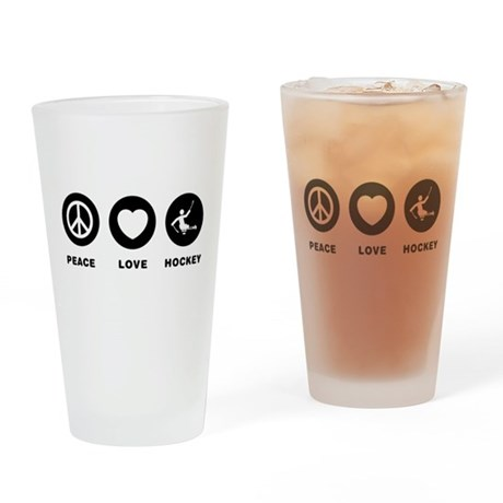 Challenged Sled Hockey Drinking Glass