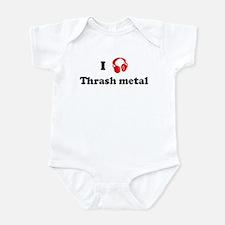 Thrash metal music Infant Bodysuit