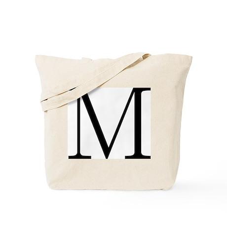 Greek Alphabet Letter Mu Tote Bag