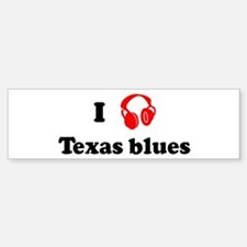Texas blues music Bumper Bumper Bumper Sticker