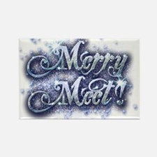 Merry Meet - Winter Rectangle Magnet