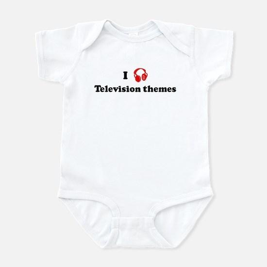 Television themes music Infant Bodysuit