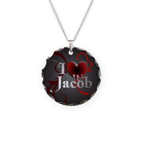 I heart Jacob Necklace Circle Charm