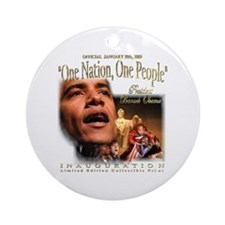 """Obama's """"1 Nation, 1 People"""" Ornament Rn"""