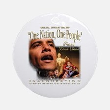 "Obama's ""1 Nation, 1 People"" Ornament Rn"